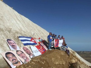 Libanesische Freunde der Cuban Five auf dem über 3000m hohen Qornet el-Sawda